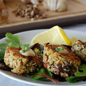 Crab and Mushroom Cakes with Chipotle Aioli
