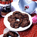 Cookie Mix in a Jar: Chocolate Cherry Cookies