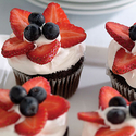 Berry Patriotic Cupcakes