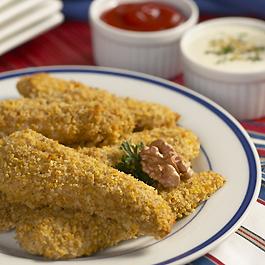 Crunchy Walnut-Coated Chicken Strips