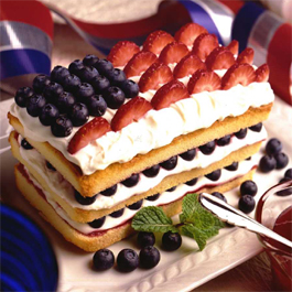 Red, White and Blueberry Pound Cake