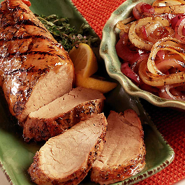 Grilled Honey-Glazed Pork Tenderloin