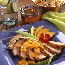 Caribbean Honey-Spiced Chicken with Mango