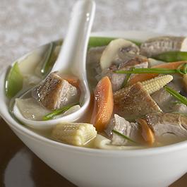 Gingered Pork-Vegetable Soup