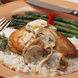 Quick & Lean Chicken Mushroom Stroganoff