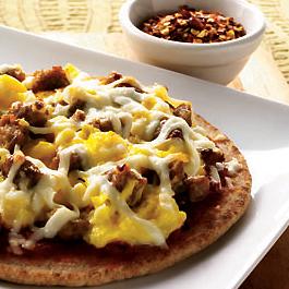 Mini Breakfast Pita Pizzas