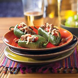 Picadillo-Stuffed Jalapeño Peppers