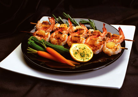 Pineapple Honey Grilled Shrimp