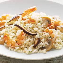 Shrimp and Onion Risotto