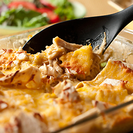 Slow Cooker Cheesy Chicken & Tortillas