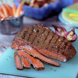 Three-Way Marinated Flank Steak