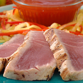Grilled Sweet and Sour Yellowfin Tuna