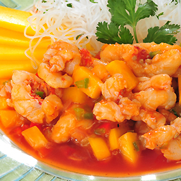 Mango Sweet and Sour Rock Shrimp