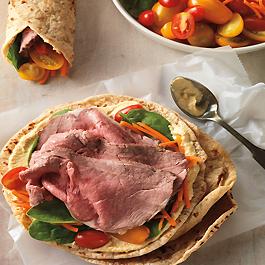 Mediterranean Beef and Veggie Wraps
