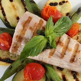 Char-Grilled Florida Mahi-Mahi with Vegetables