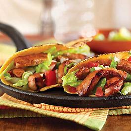 Honey and Spice Sauteed Pork Hand Tacos