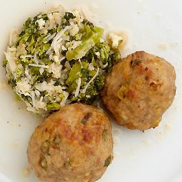 Asian Chicken Meatball & Cauliflower Rice Tortilla