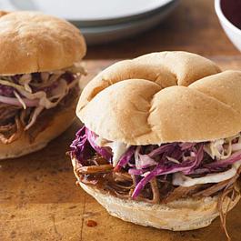 BBQ Beef Brisket Sandwiches with Coleslaw