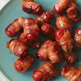 Bacon-Wrapped Hot Dog Bites